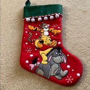 Disney Christmas stocking - Pooh Tigger & Eeyore